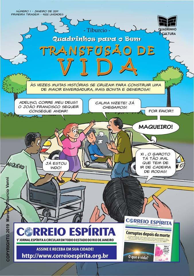 quadrinhos fraternos edição transfusão de vida