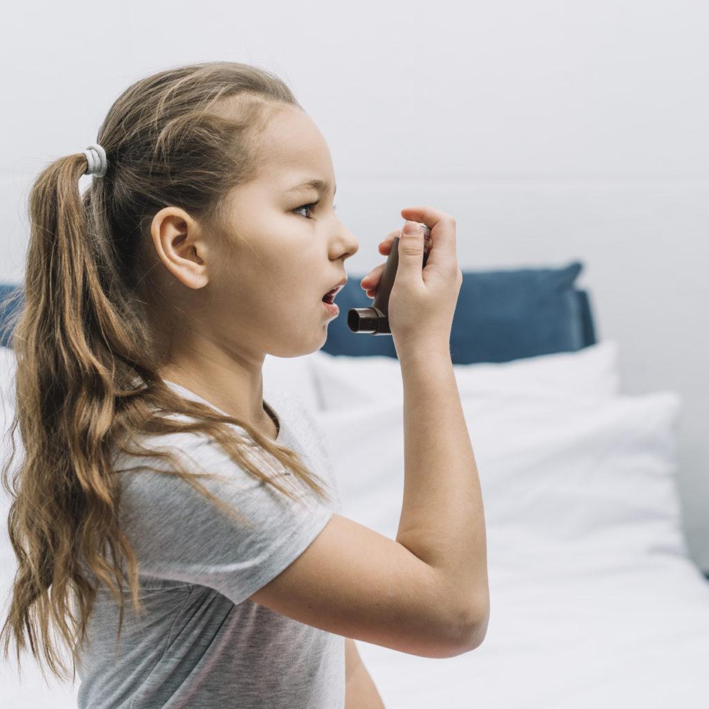 Asma alérgica atinge principalmente crianças.