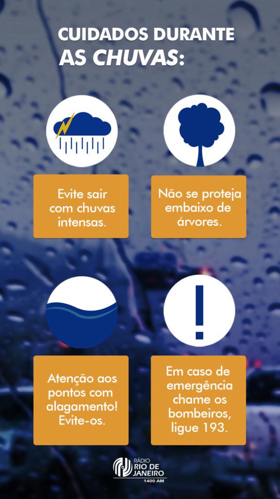 Dicas para se proteger durante as chuvas.